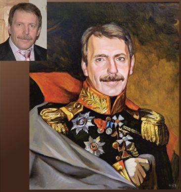 Настоящий портрет маслом на заказ в Калининграде…