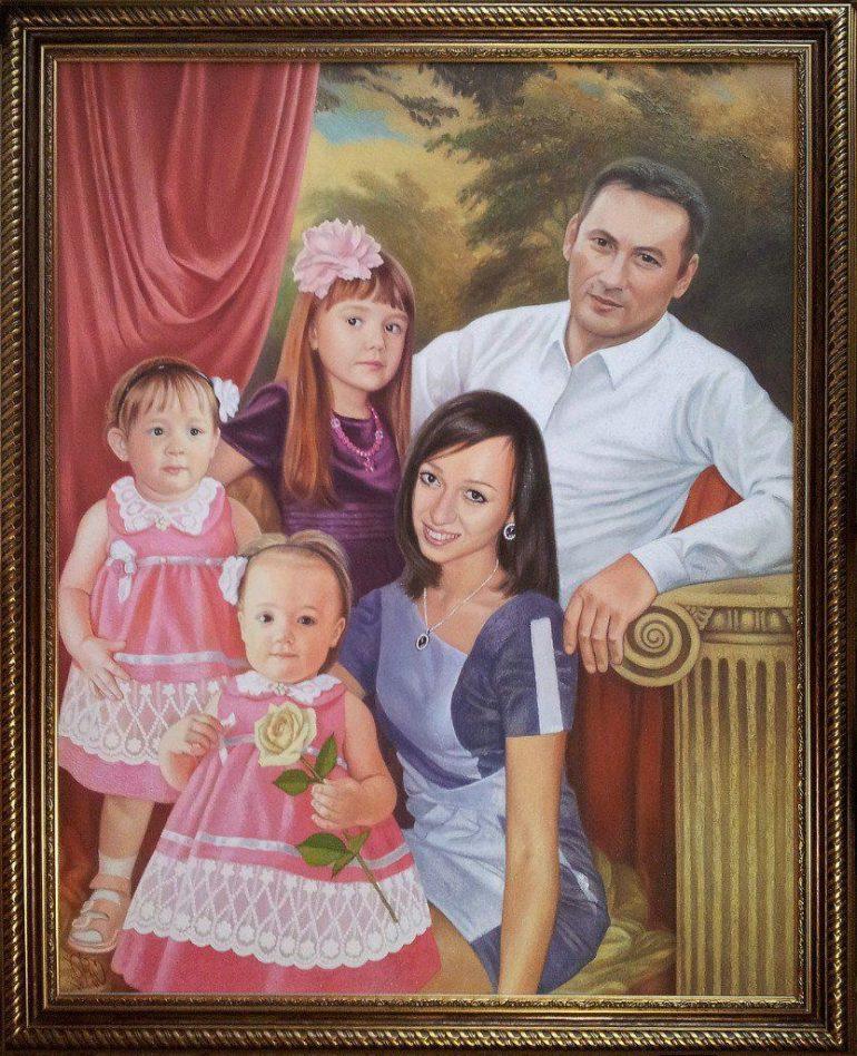 Семейный портрет маслом в Калининграде — правильная традиция…