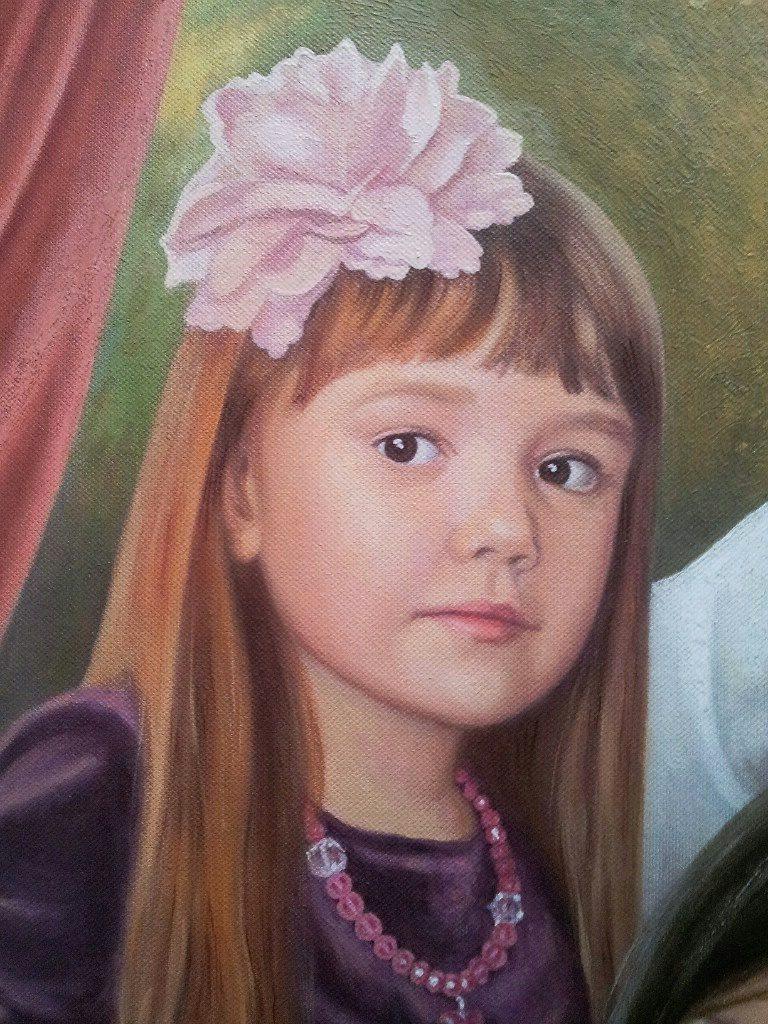 Семейный портрет на холсте Калининград