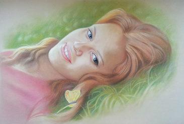 Настоящий портрет пастелью для любимой девушки в Калининграде, просто и со вкусом!