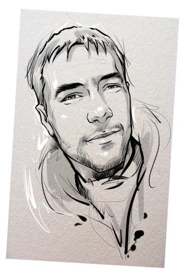 Портрет карандашом любимому мужу в Калининграде…