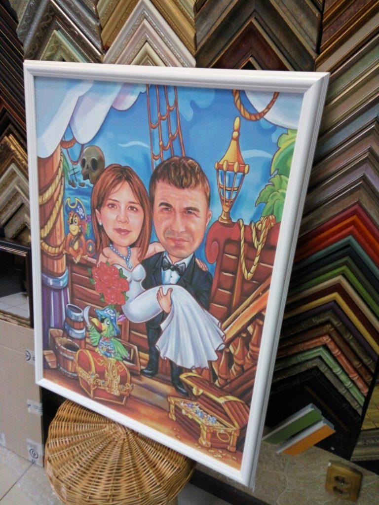 шарж по фото на заказ в Калининграде