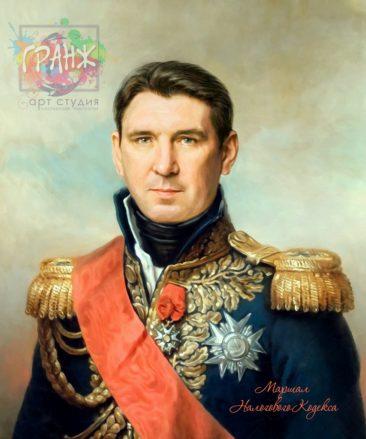 Портрет по фото на холсте в подарок мужчине на 23 февраля Калининград