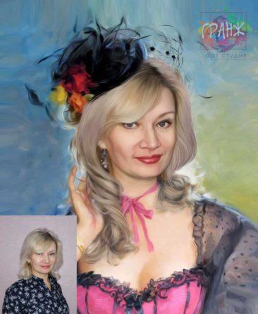 Заказать арт портрет по фото на холсте в Калининграде