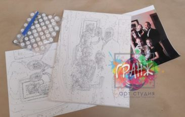 Картина по номерам по фото, портреты на холсте и дереве в Калининграде
